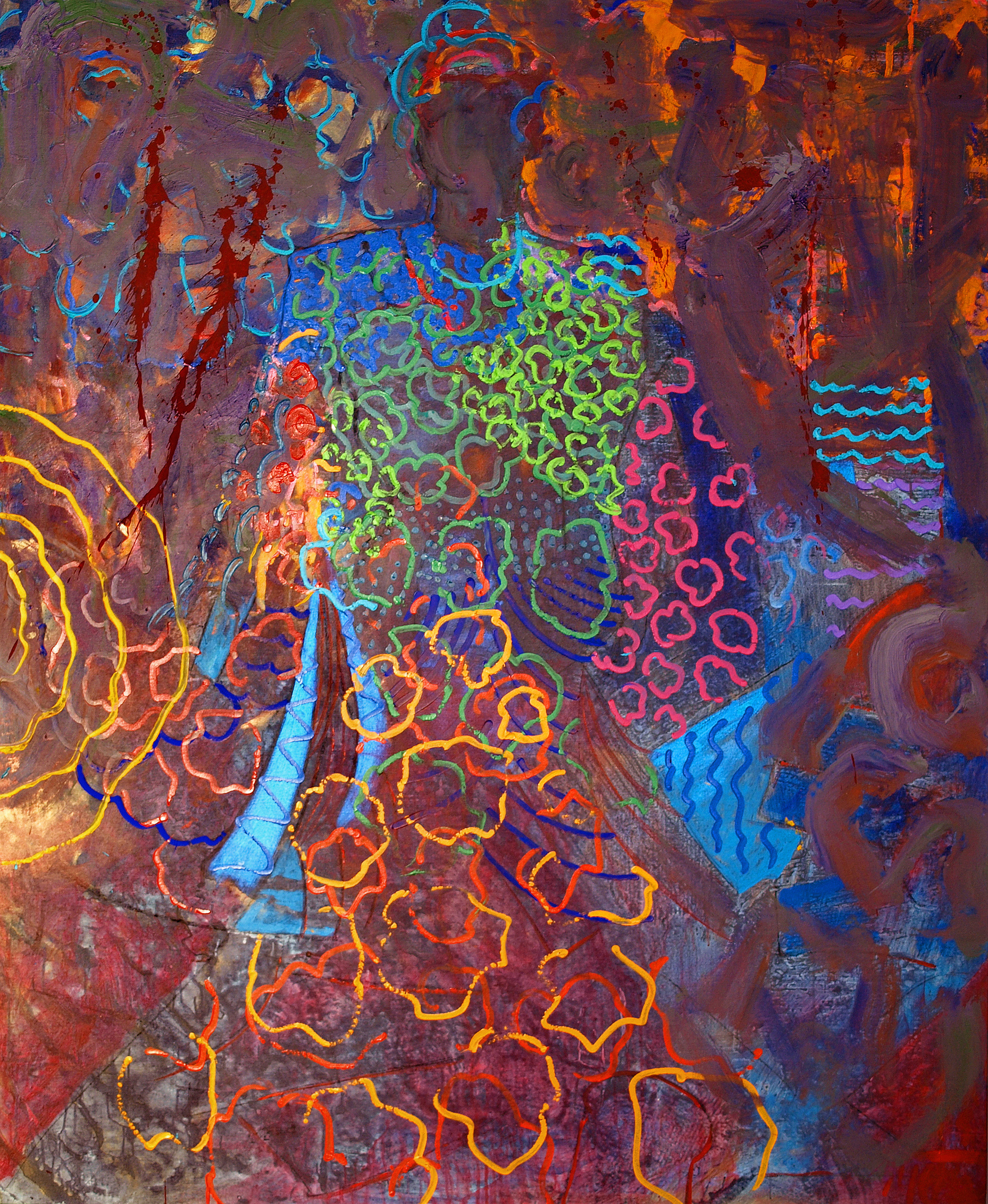 Indigo (Haiku Series), 2005, 62 x 76 inches, Acrylic on canvas