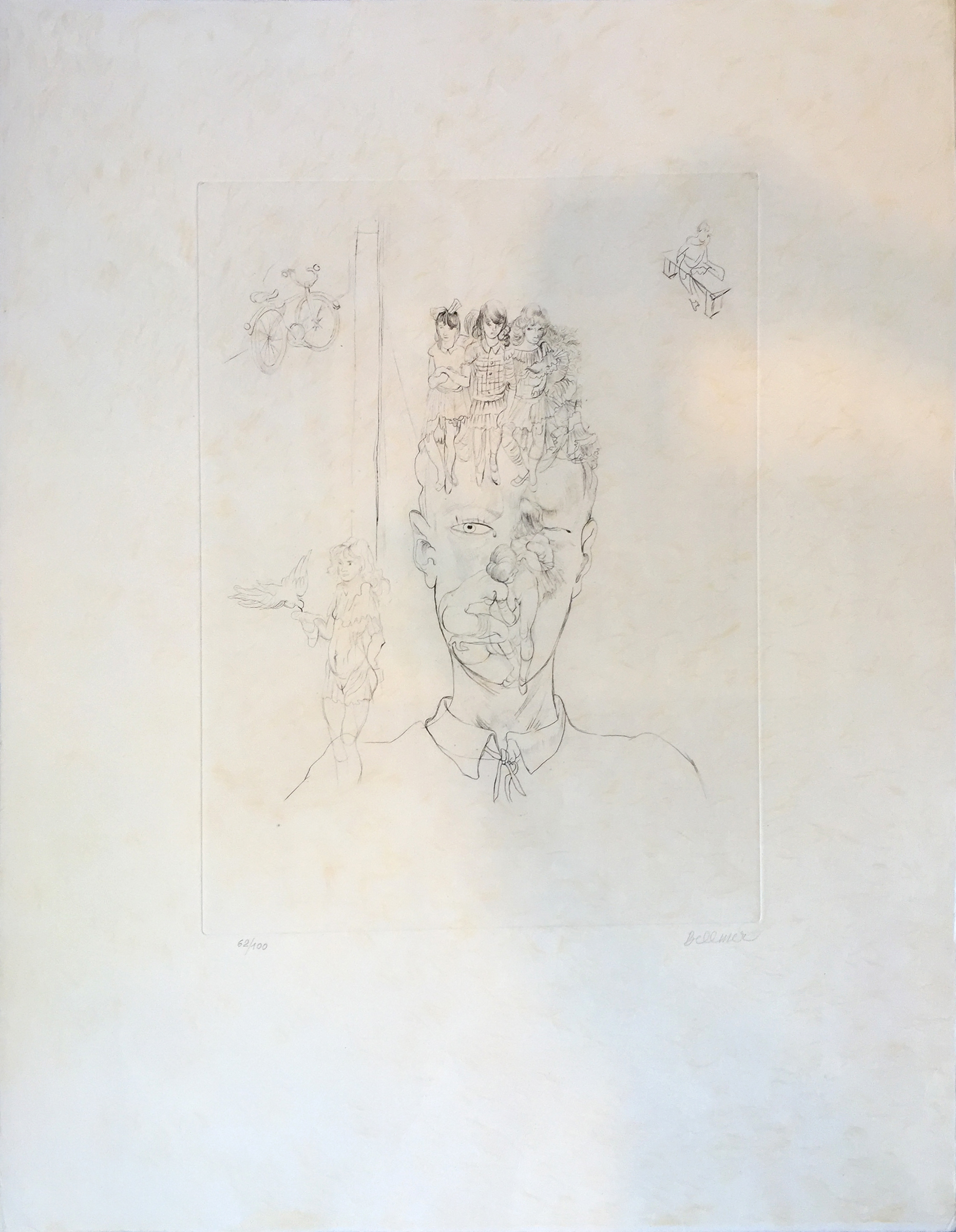 Gedanken (ed. 62 of 100), 1960, 15.75 x 12 inches, Etching