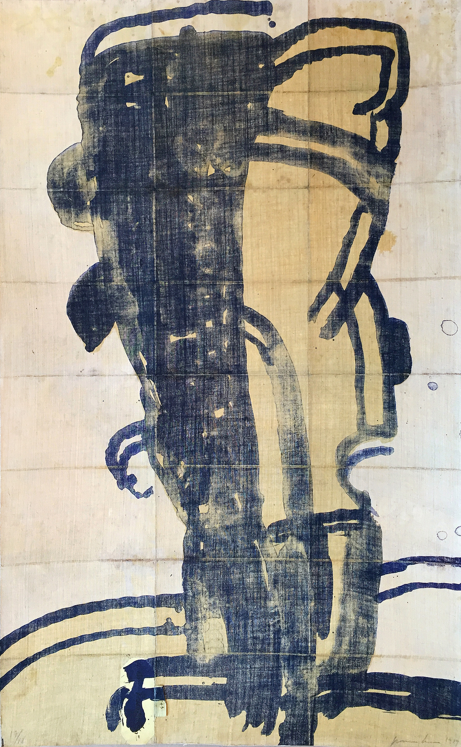 Yellow Cell (ed. 17 of 18), 1989, 22.5 x 36.5 inches , Lithograph on canvas