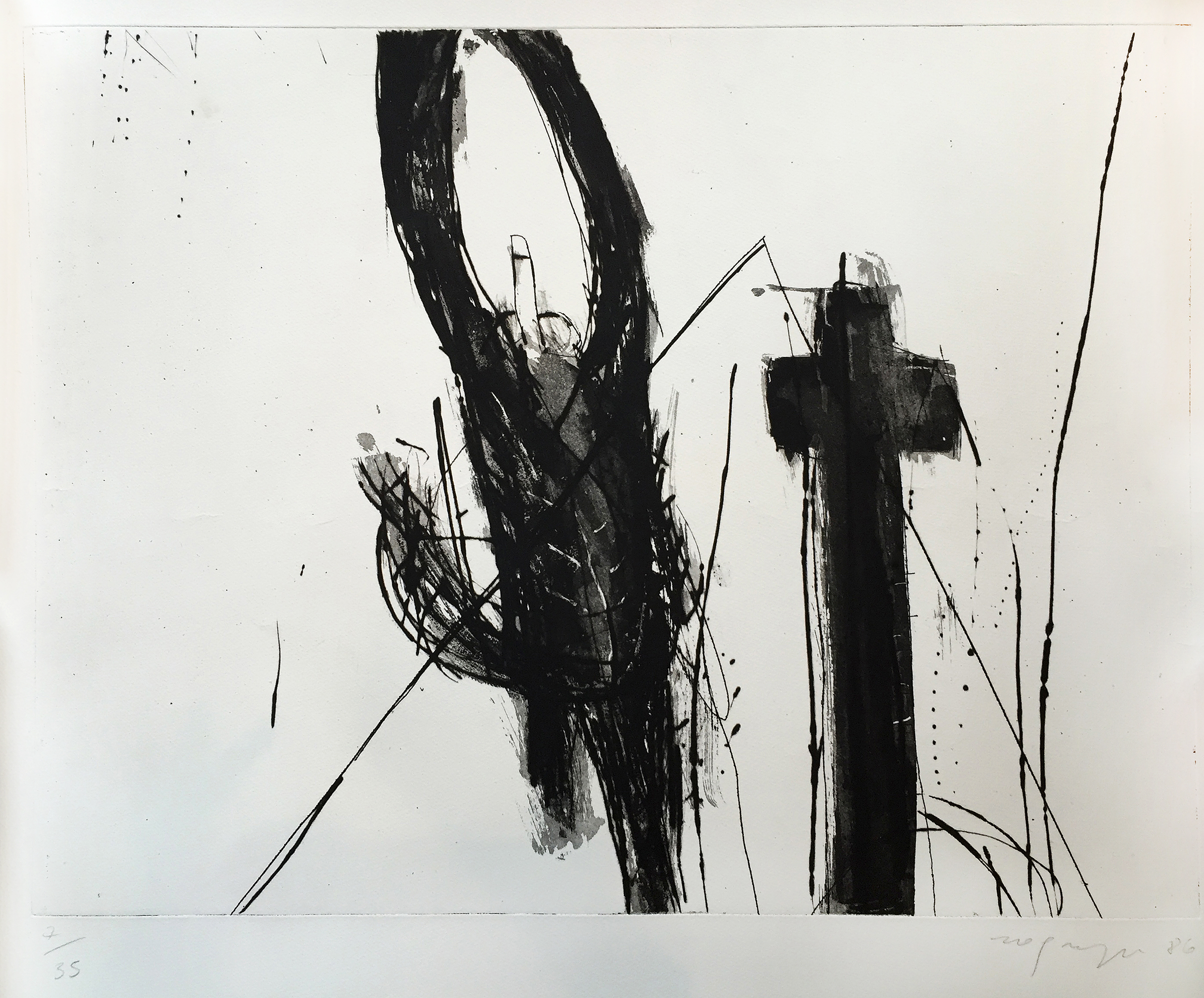 Untitled (ed. 7 of 35), 1986, 25.75 x 28.5 inches, Etching