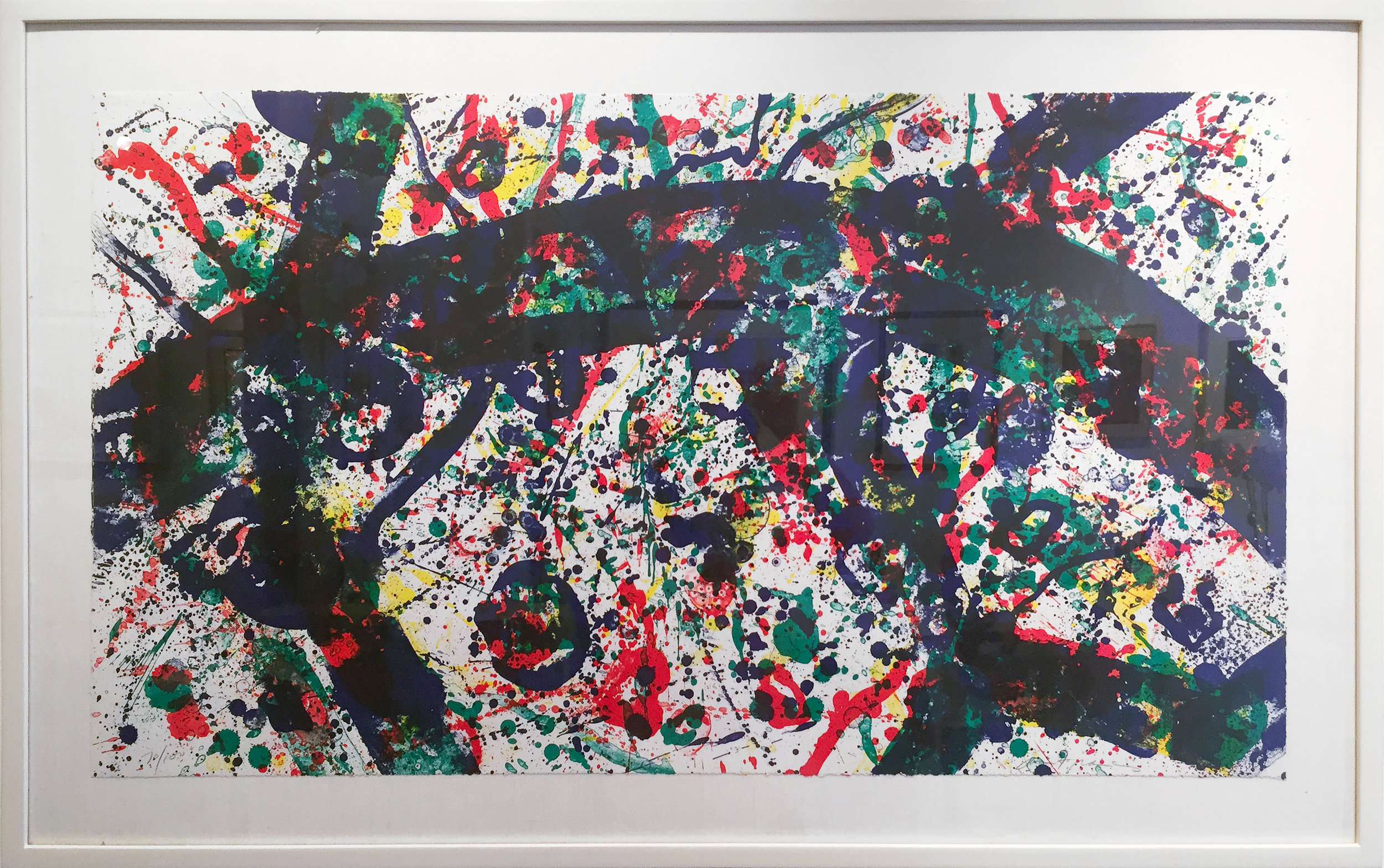 Untitled (ed. 70 of 100), 1974, 22.25 x 39 inches, Color lithograph