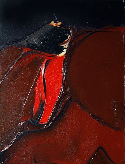 Fesses Labourees, 1977, 35.75 x 45 inches, Oil on canvas