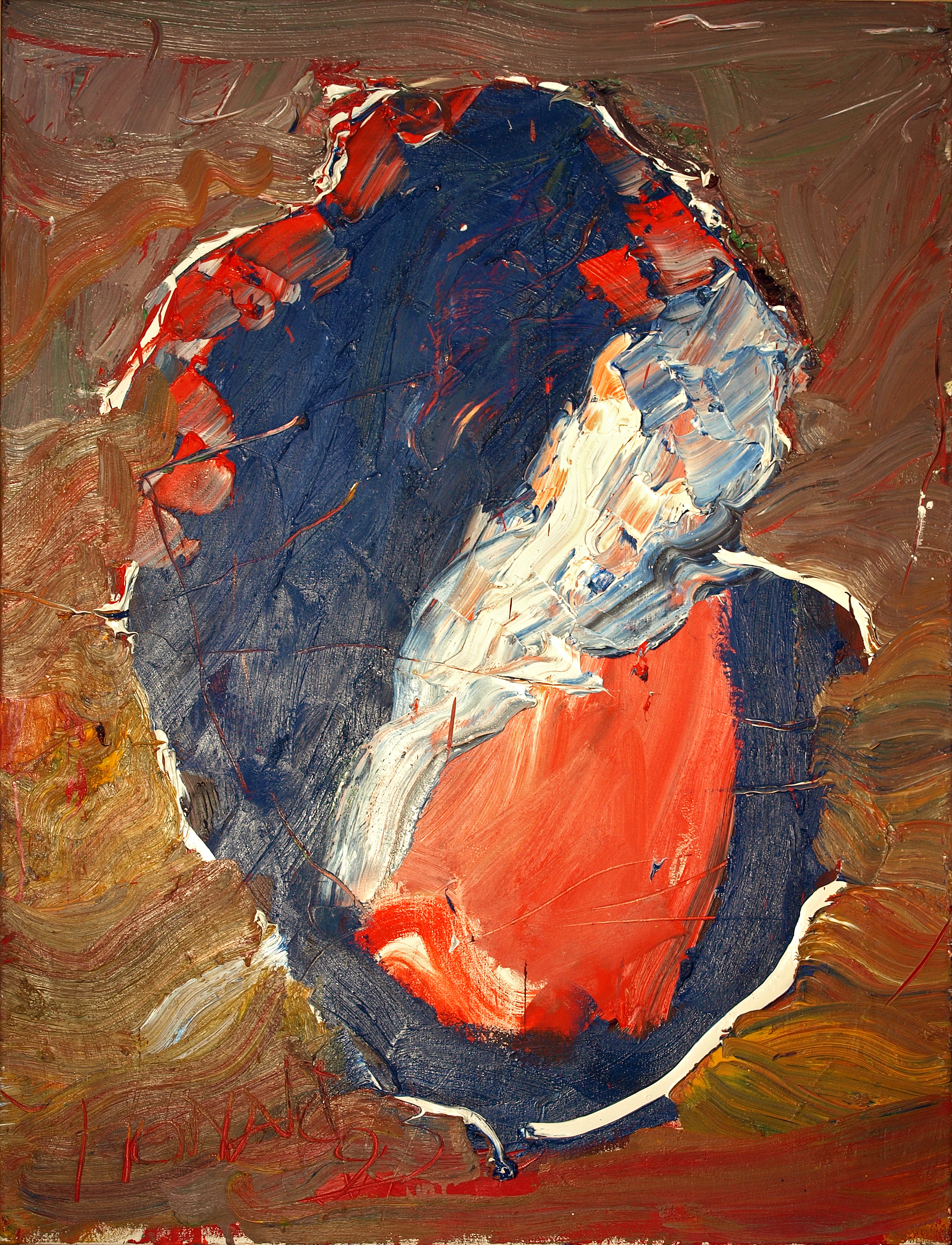 Fra Angelic, 1993, 48 x 36 inches, Acrylic on canvas