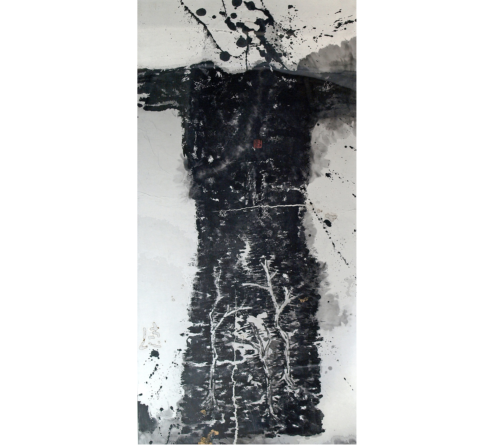 Chinese Clothes No.05 Fn02, 2005, 53 x 26 inches, Ink paper copper powder