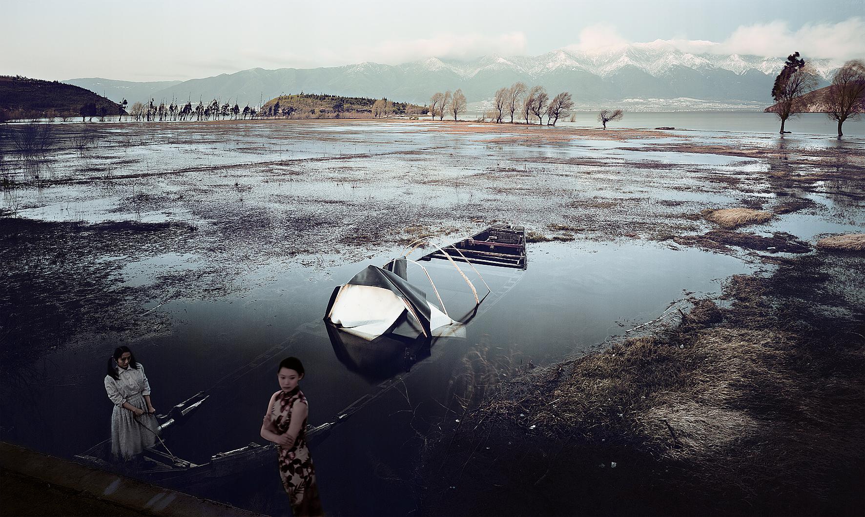 Abandoned Boat (Temptation Series), 2008, 110 x 180 cm, Chromogenic photograph (Edition 2 of 12)