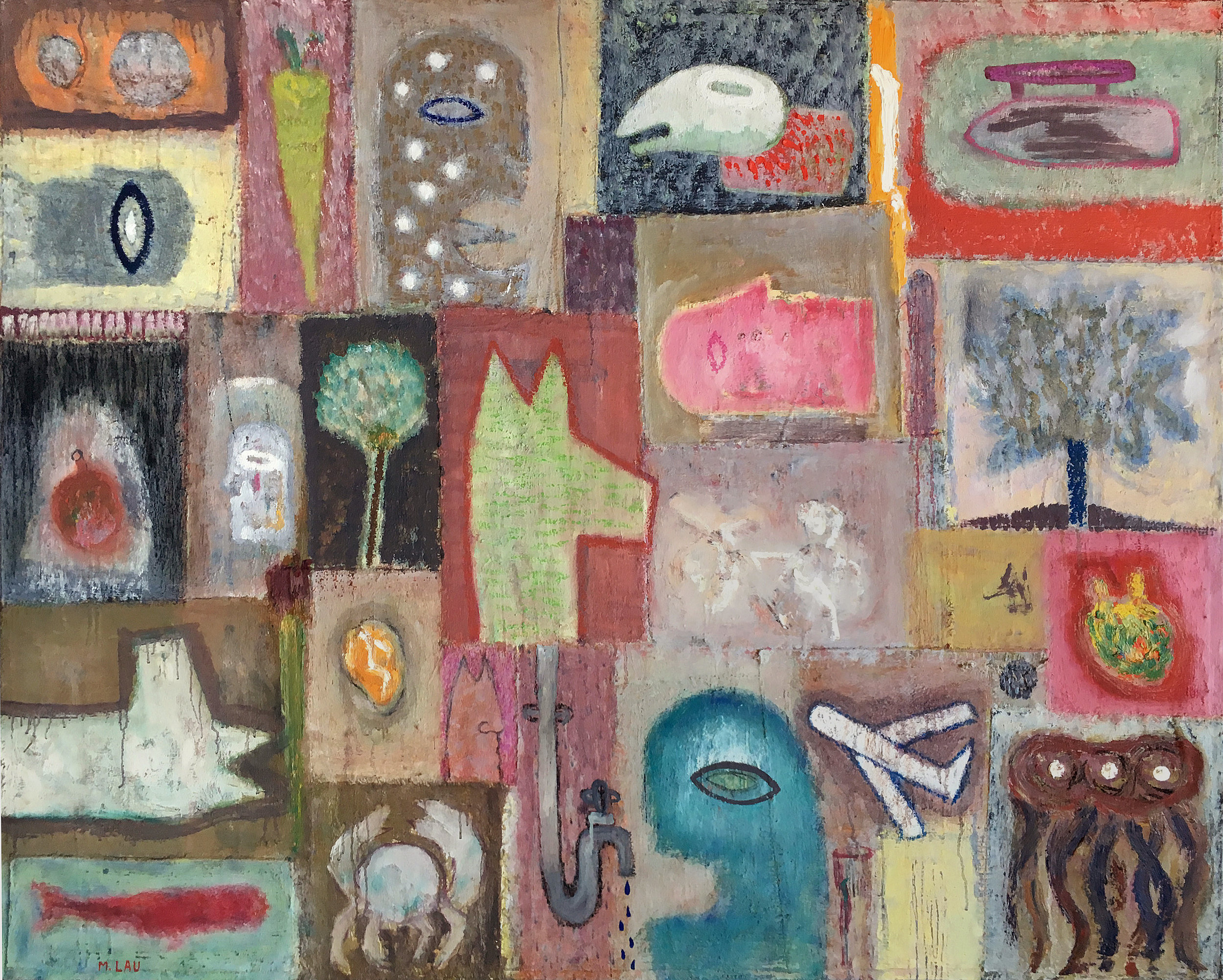 Epoca VIII, 2011, 60 x 48 inches, Oil on canvas, mounted on board