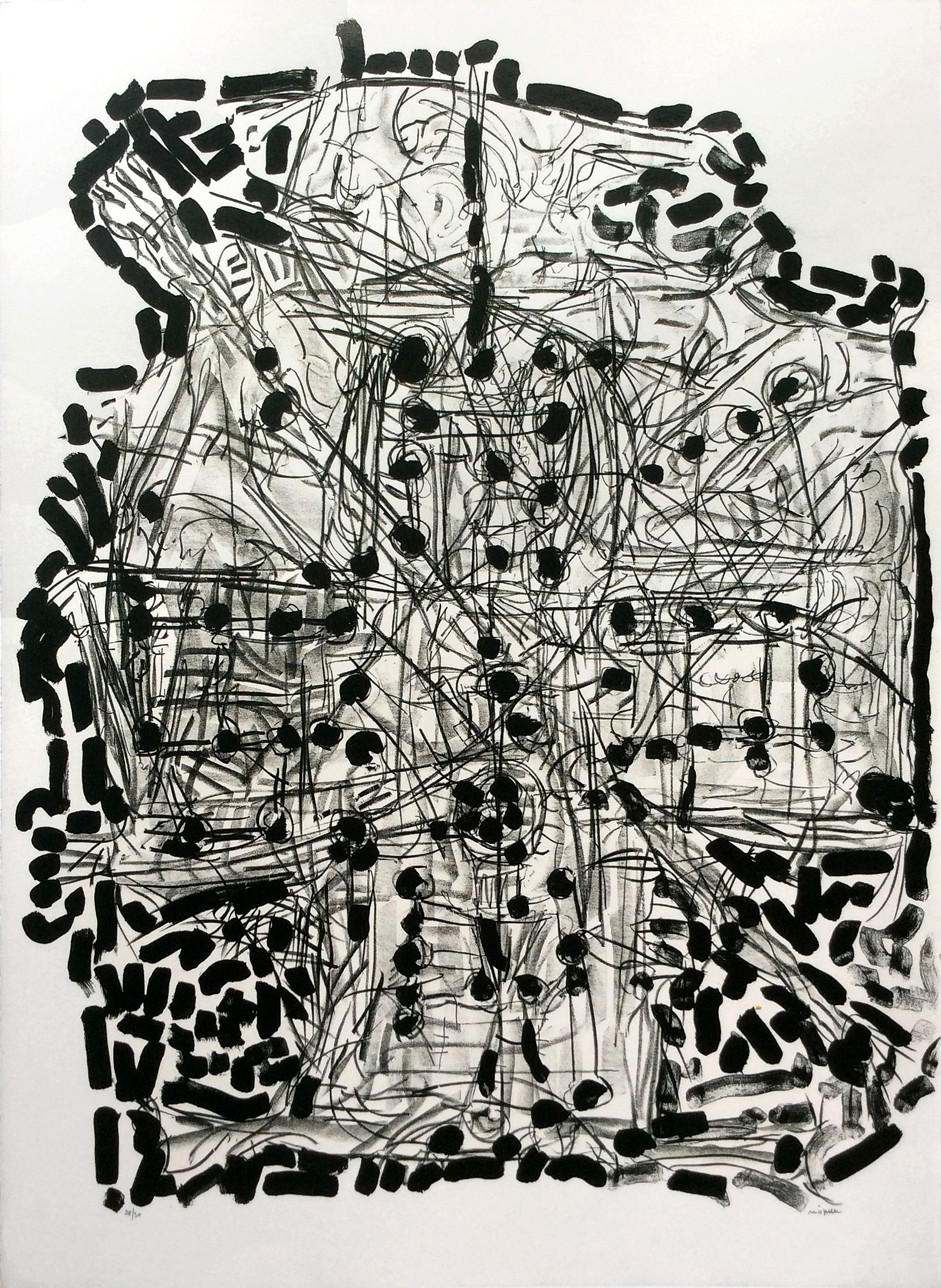 Suite Gaspésienne, 1972, 63 x 45.75 in., Lithograph on Arches paper (Ed. 27 of 30) (SOLD)