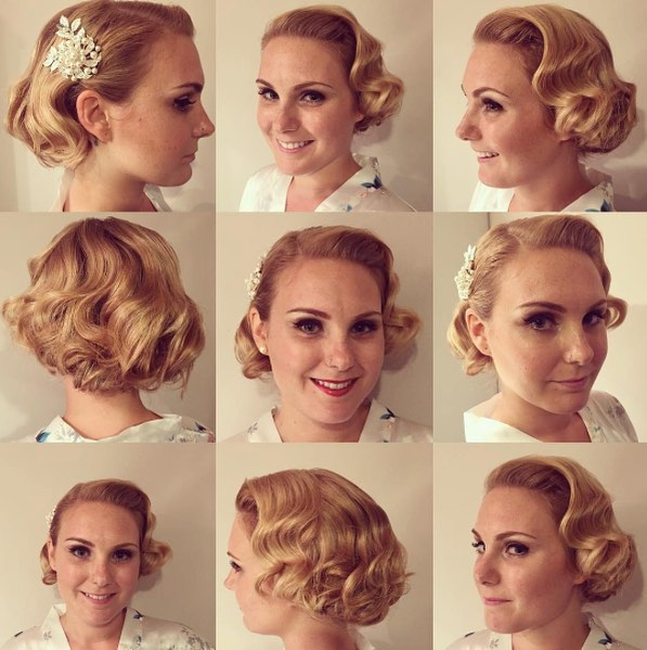 we love Retro weddings 👰🏻 this do done by @alexandra.apple . . . #wedding #weddinghair #retrohair #retrowedding #updo #bride #bridehairstyle #brideupdo #bigday