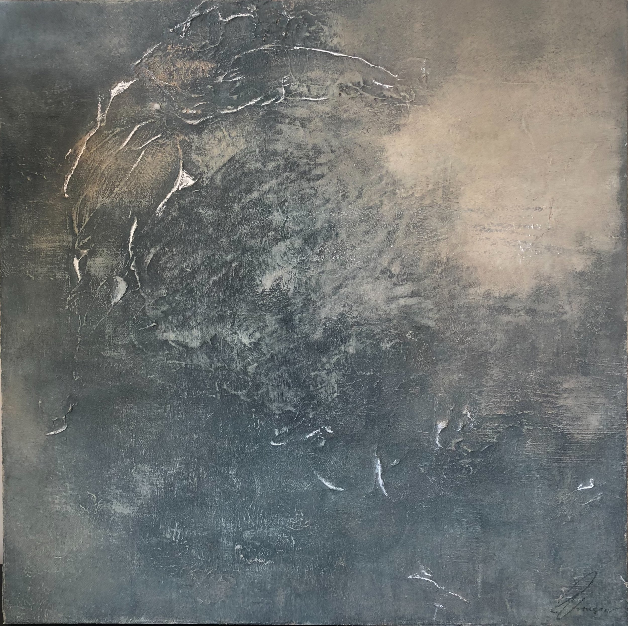 WATERWAYS - mixed media on canvas | 24 x 24