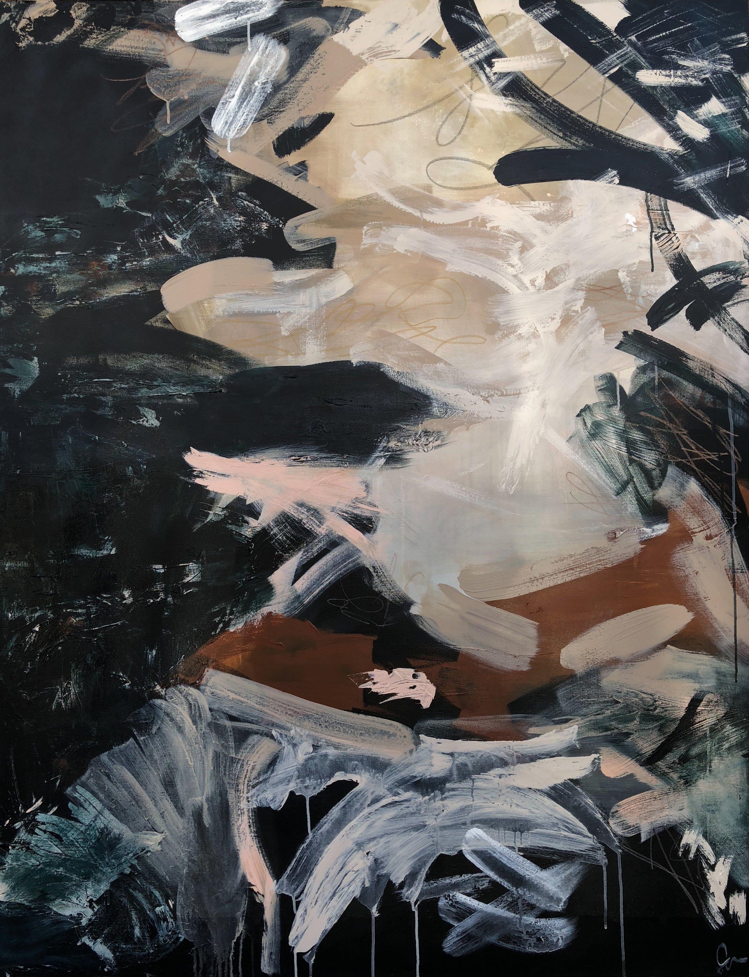 FOXTROT - mixed media on canvas | 48 x 60