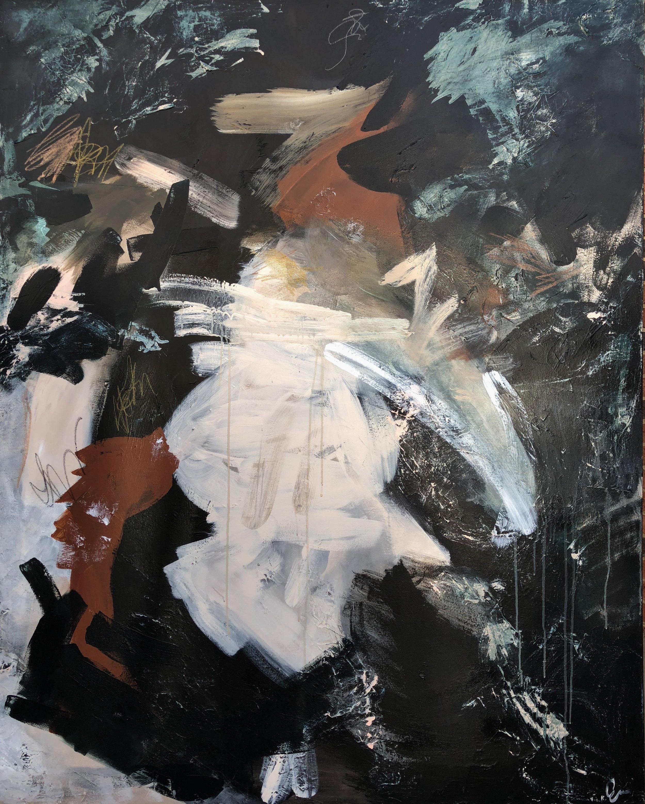 WALTZ - mixed media on caNvas | 48 x 60
