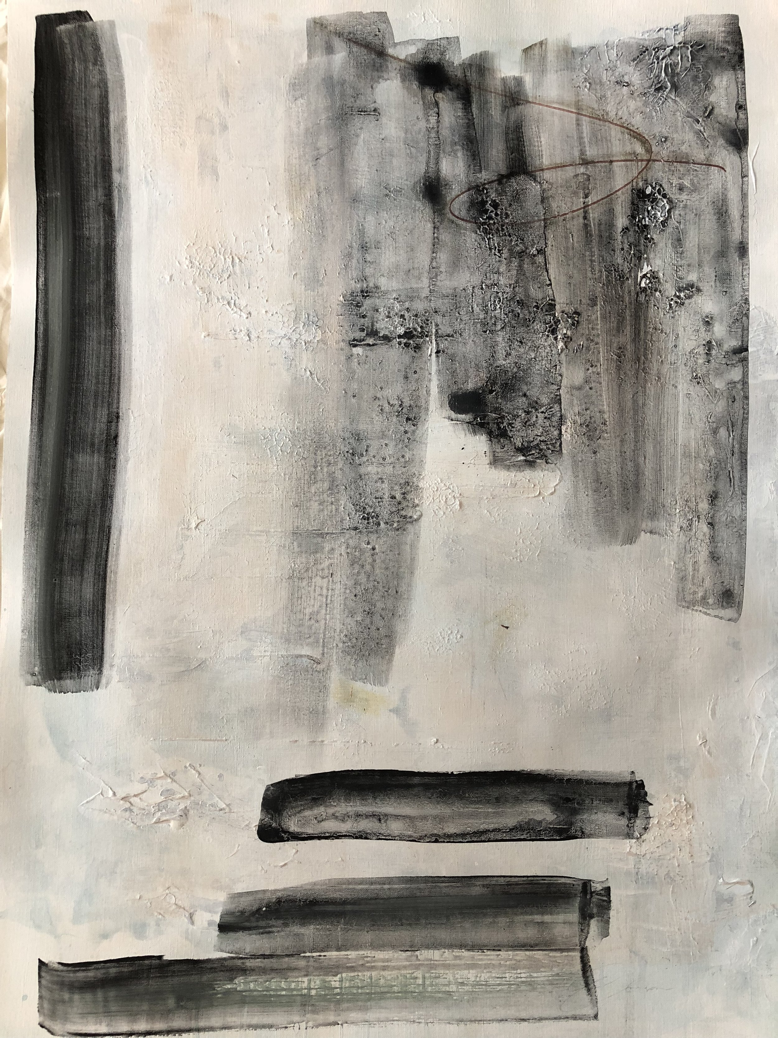 SOLD - REMODELING IMIXED MEDIA ON PAPER 18 X 24