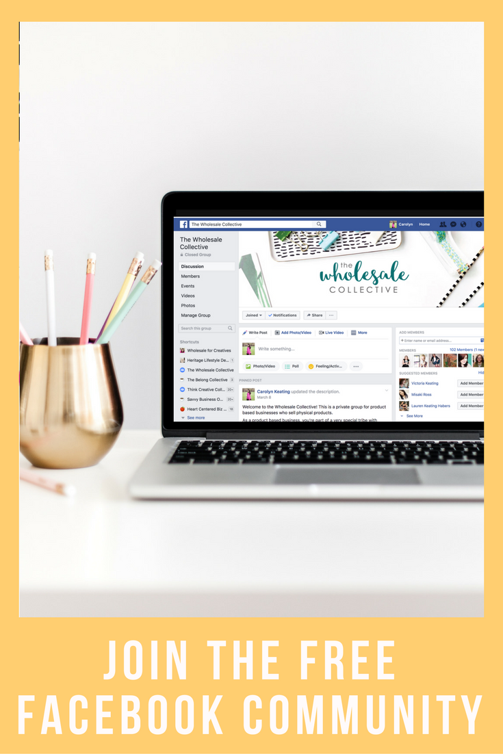 join the wholesale collective Facebook community