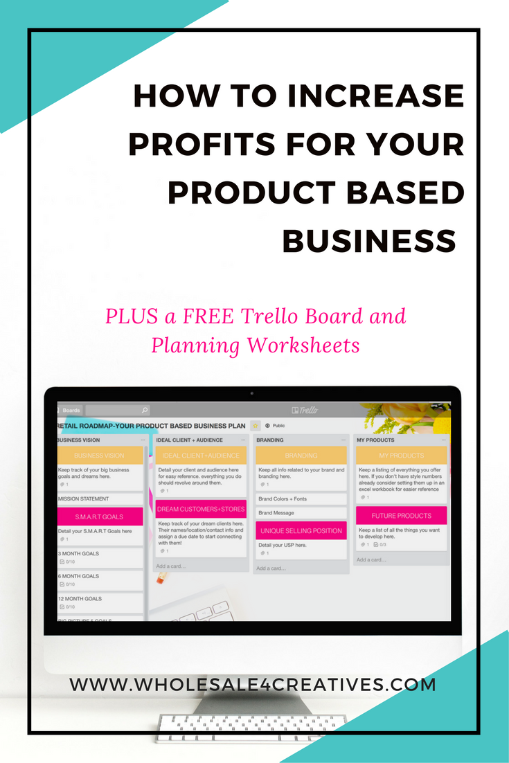 increase profits for your product based business, trello for product based businesses