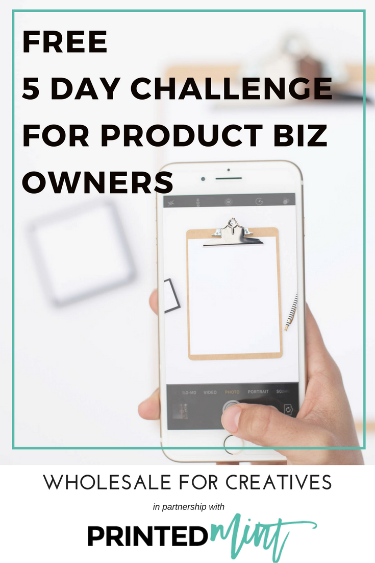 5 day challenge for makers and product based business owners with Printed Mint