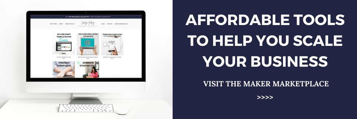 the maker marketplace affordable templates for product based business owners