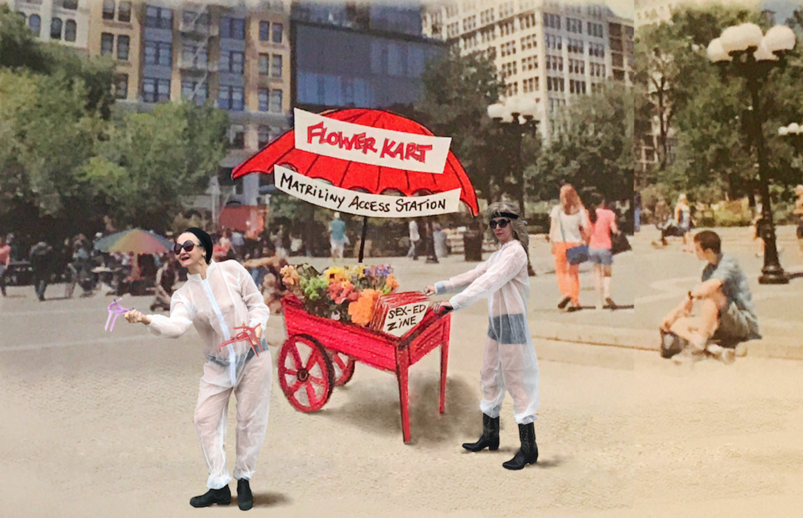 Flower Kart - No Wave Performance Task ForceArt in Odd Places 2018