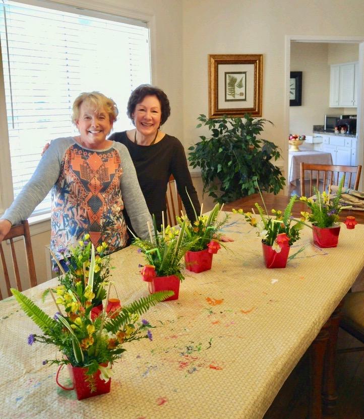 Alice Caldwell and Claudia Burningham at Osprey Village ALF