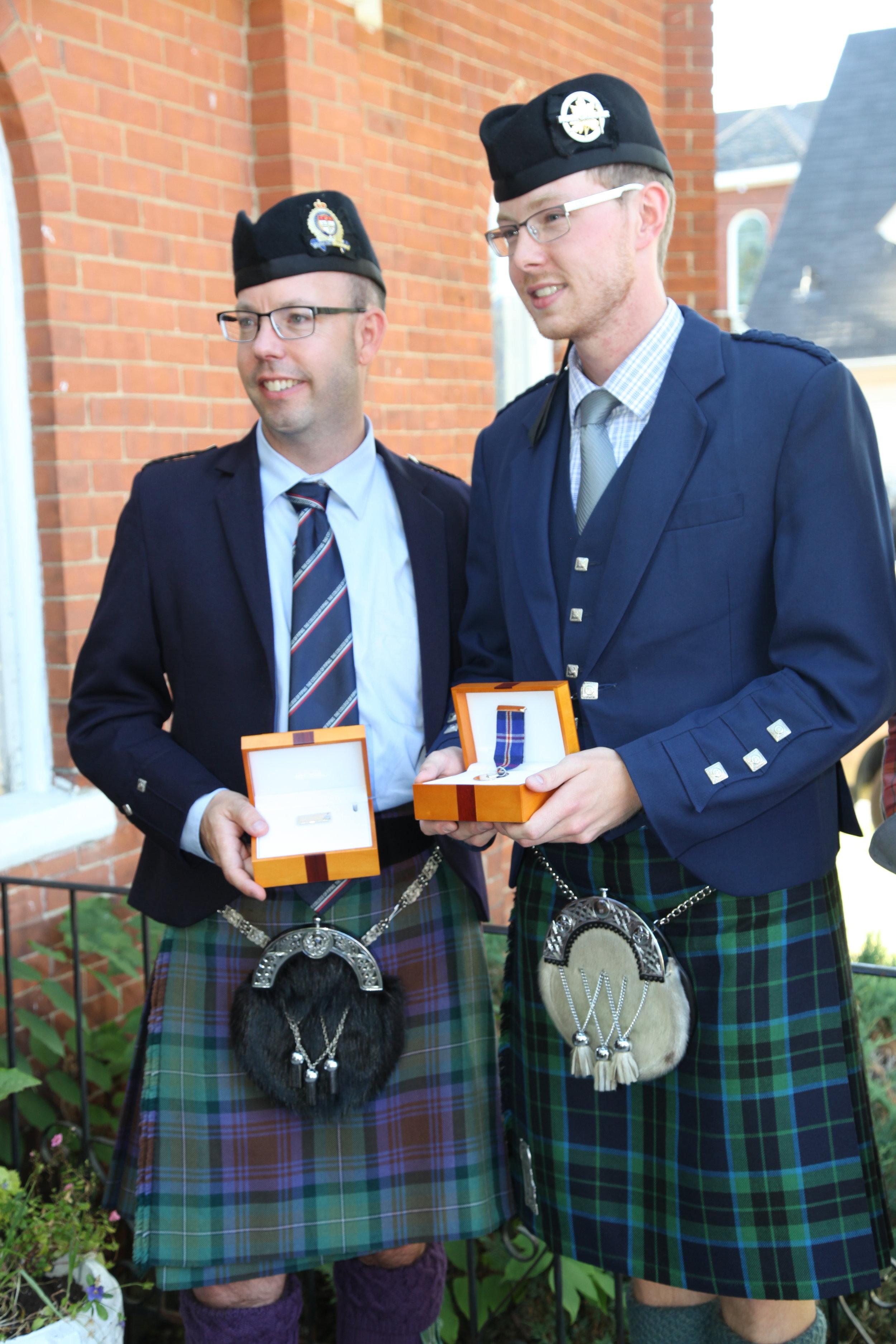 Last year's winners Andrew Hayes (left) and Glenn Walpole (right).