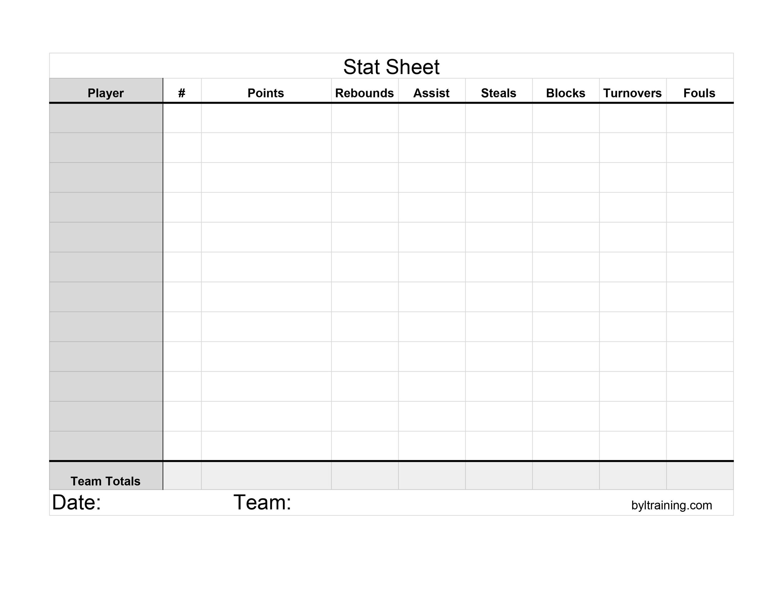 Free Printable Stat Sheets Statistics Definitions Beyond Your Limits Basketball