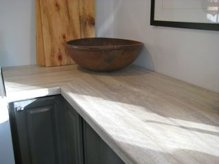 travertine silver small