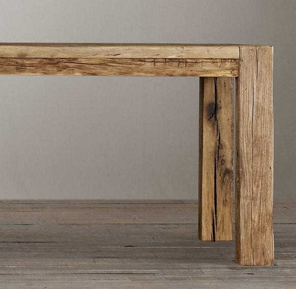 reclaimed russian oak parsons table RH