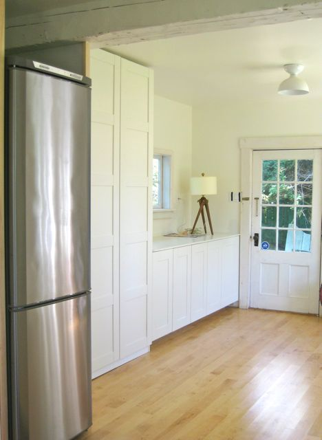 cabinets during