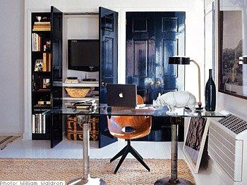 black glossy interior doors