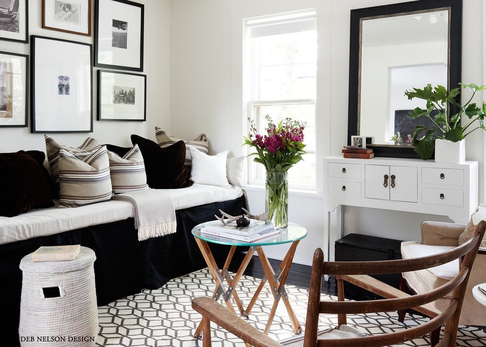 Deb Nelson Design Small Space Living Room