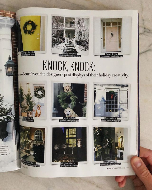 So excited to be included in this month's @houseandhome roundup of festive designer doors! These are my Chester house doors from last winter and I'm already looking forward to dressing them up again this holiday season🌲🚪  #debnelsondesign #houseandhome #holidaydoors #holidaydecor #howyouhome #halifaxnoiseathome