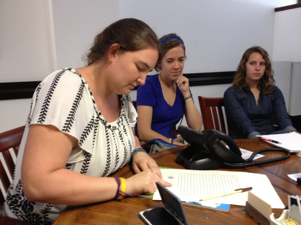 Amber making it official on behalf of the Honduran NGO board of directors.