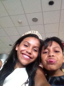 Pamela and Nayeli being sill