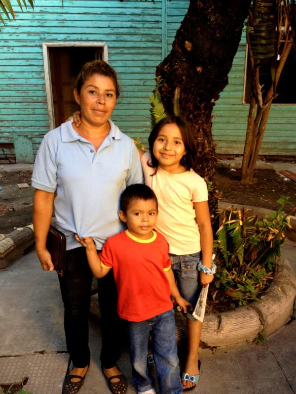 Marta pictured with her children Angi and Tobaski