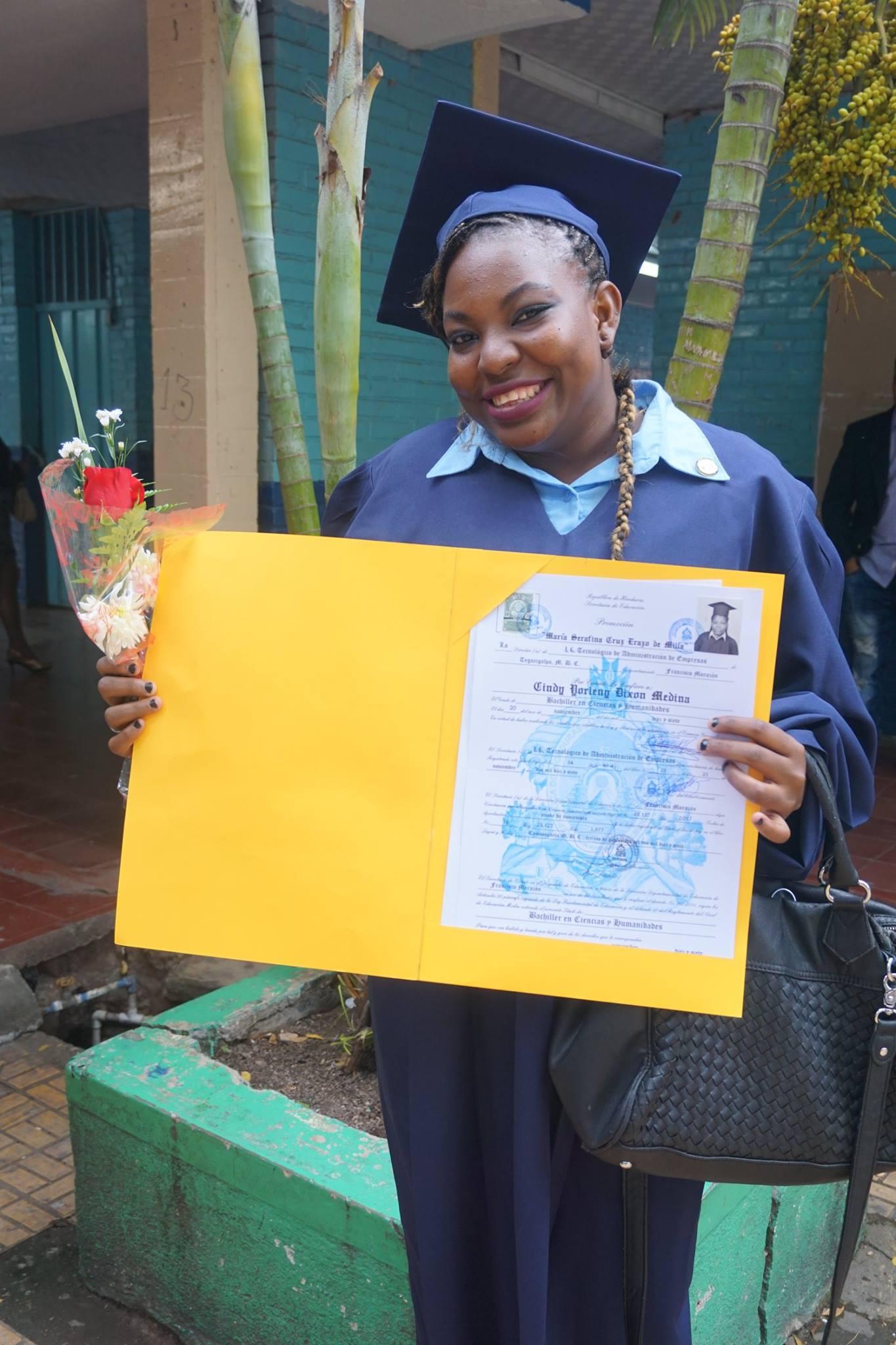 The proud graduate!