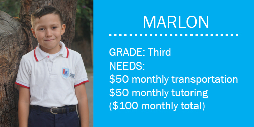 Click here to make a contribution toward Marlon's monthly needs.  Or email mail@bchonduras.org.