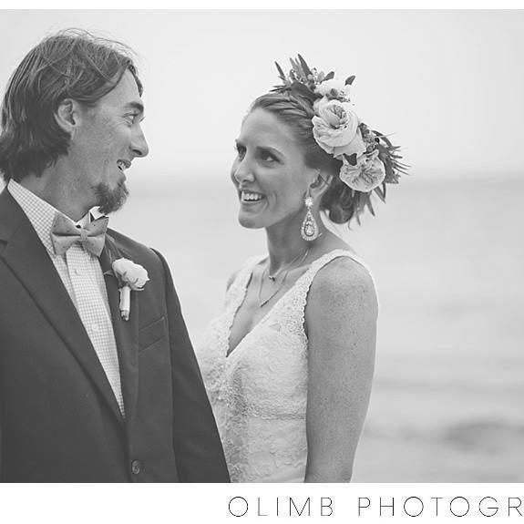 Kimberly and Jeremy on their FABULOUS wedding day in Destin, Florida - Image courtesy of Cassie Olimb at Olimb Photography. Click image to visit her website and check out her wonderful work.