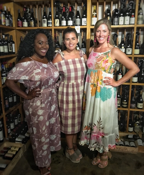 From L to R: Trice of High Heels and Good Meals, Cadie Fletcher of Cadie Fletcher and Me. :-) Click below to get Trice's and Cadie's Instagram links.  That glorious wall of wine behind us is housed at Riverside Liquors on King Street in Jacksonville, Florida.