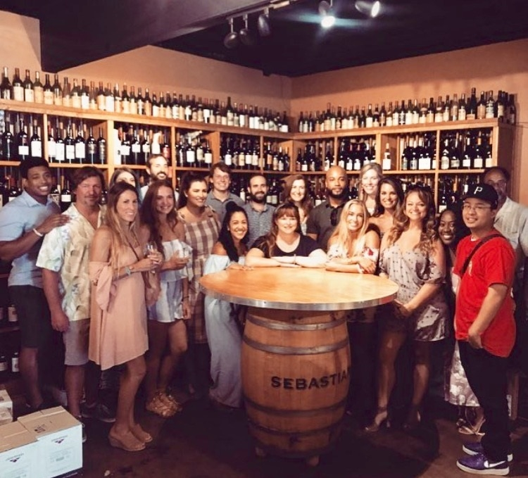 Group of Bloggers and Brands at the Summer Social Series presented by Flipper Splash and Hello Alley at Riverside Liquors on July 11, 2017.  Photo from Flipper Splash Instagram