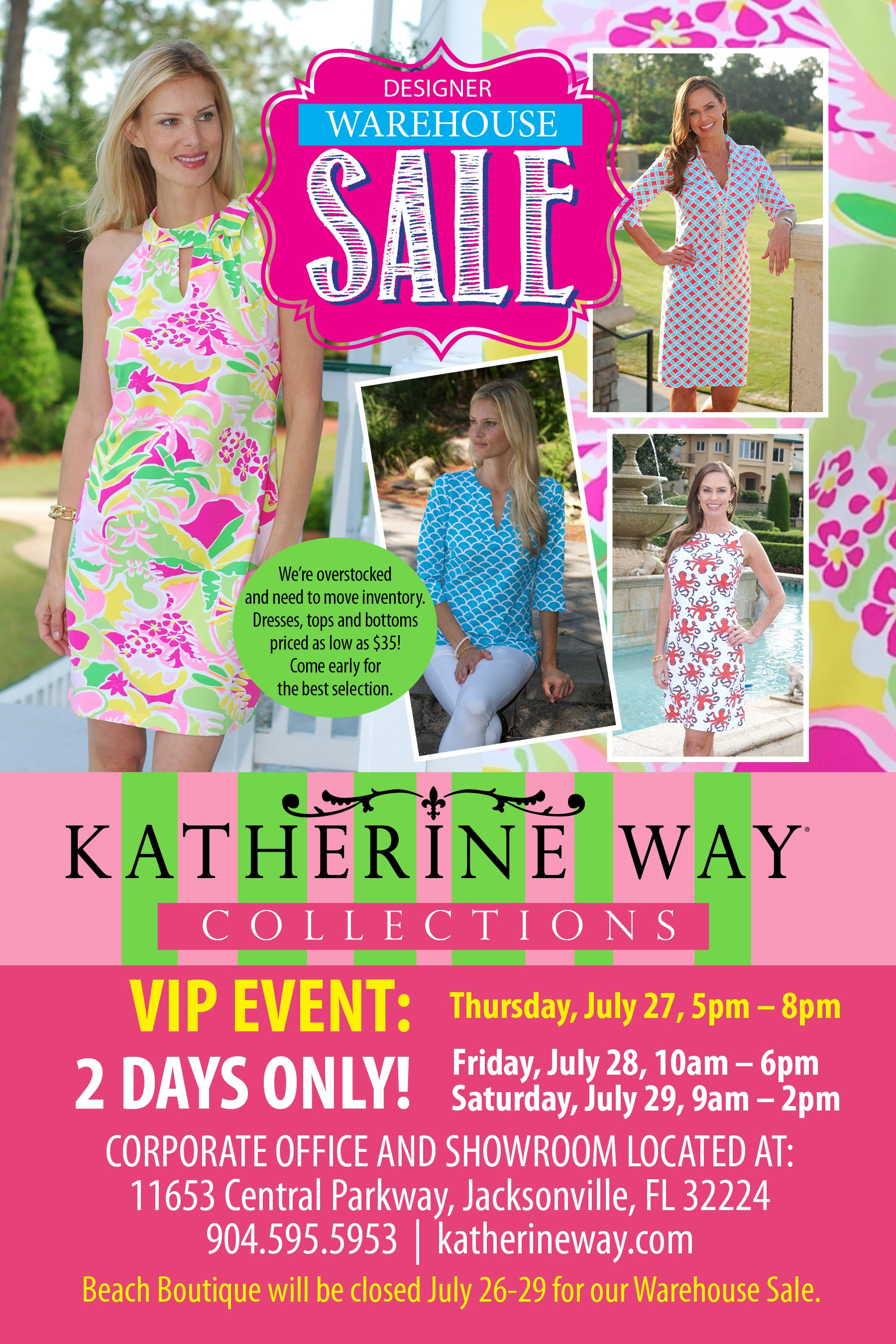 Katherine Way Warehouse Sale Invite