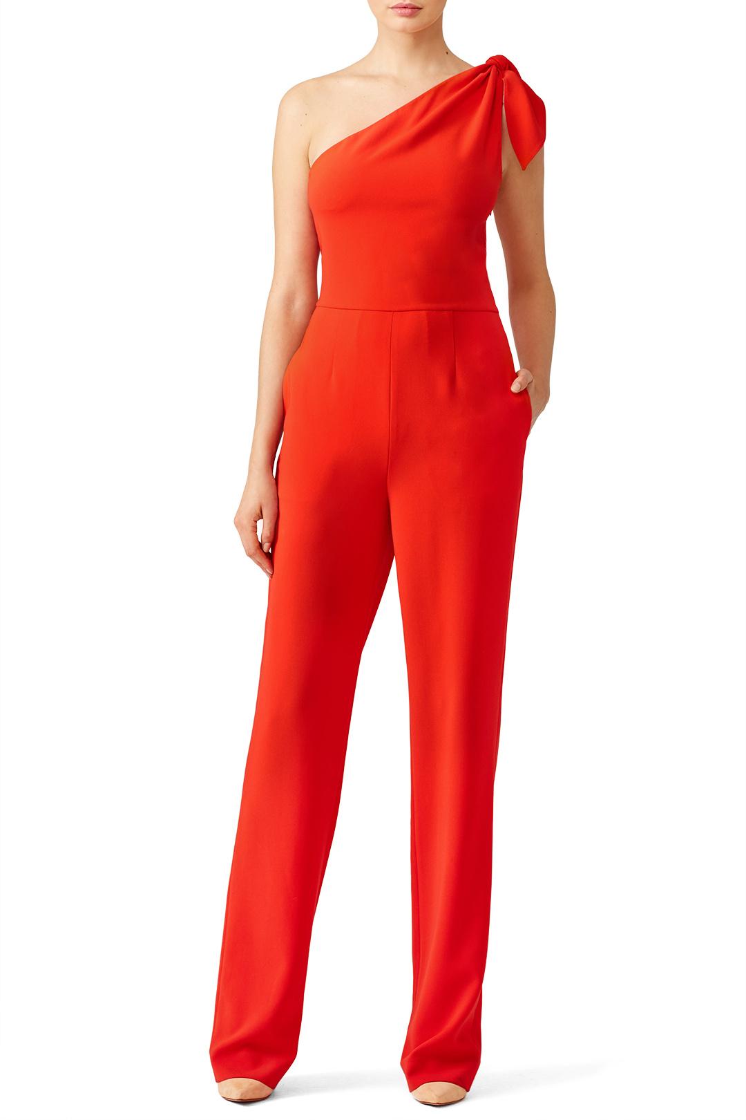 Red Knot Jumpsuit by Diane Von Furstenberg