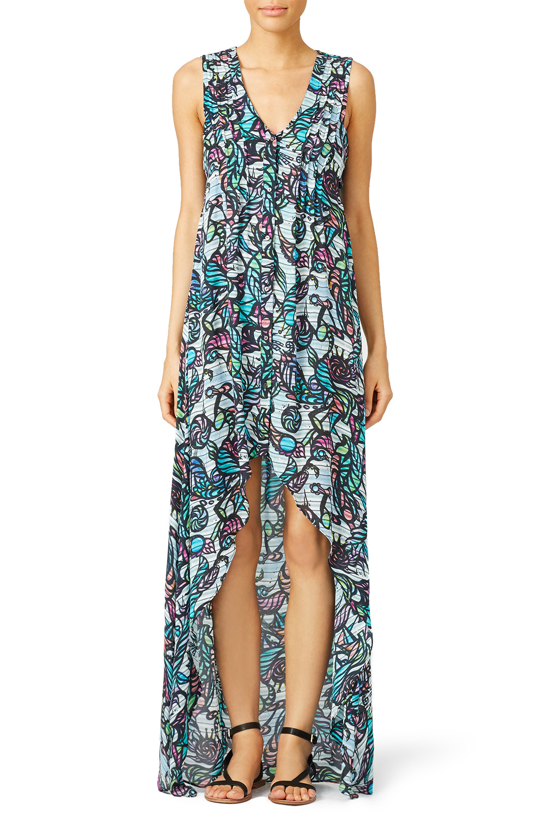 Wavy Mural Maxi from Rent the Runway