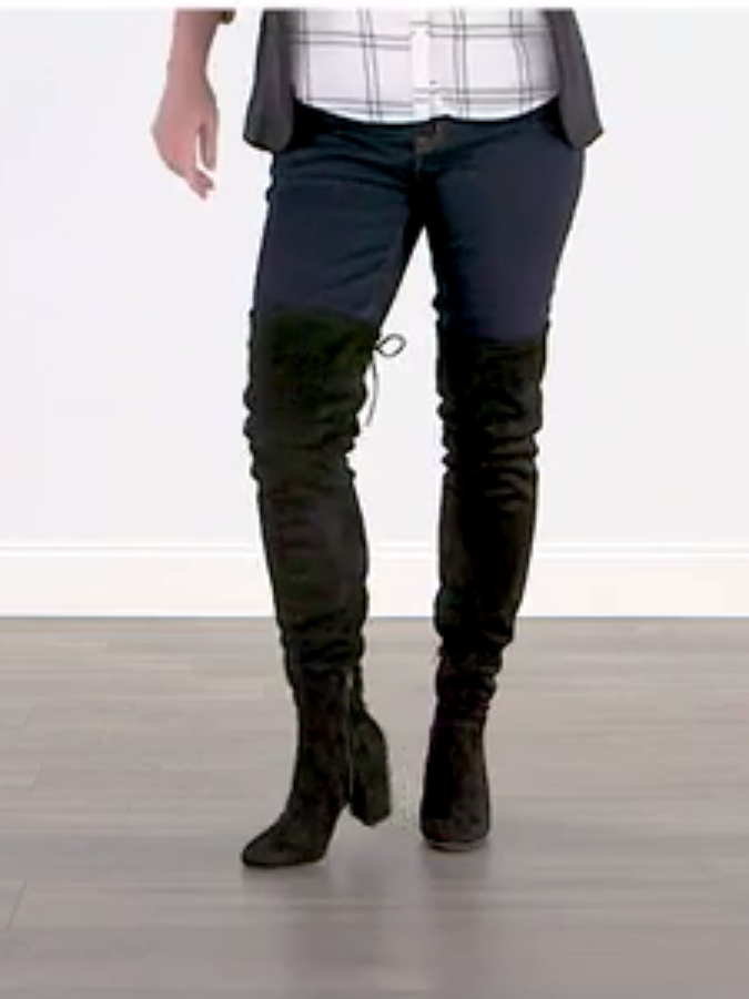 Maya Thigh High Boot by Christian Siriano at Payless. Affordable, comfortable, and sized for ALL Women. ;-)