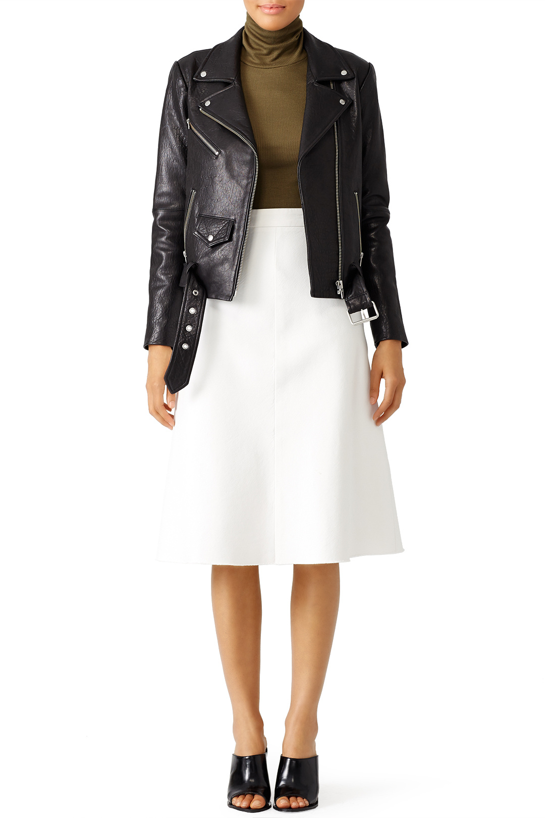 Black Jayne Classic Moto Jacket from Rent the Runway Unlimited program. You can also purchase one of the beauties online or in store at Nordstrom.