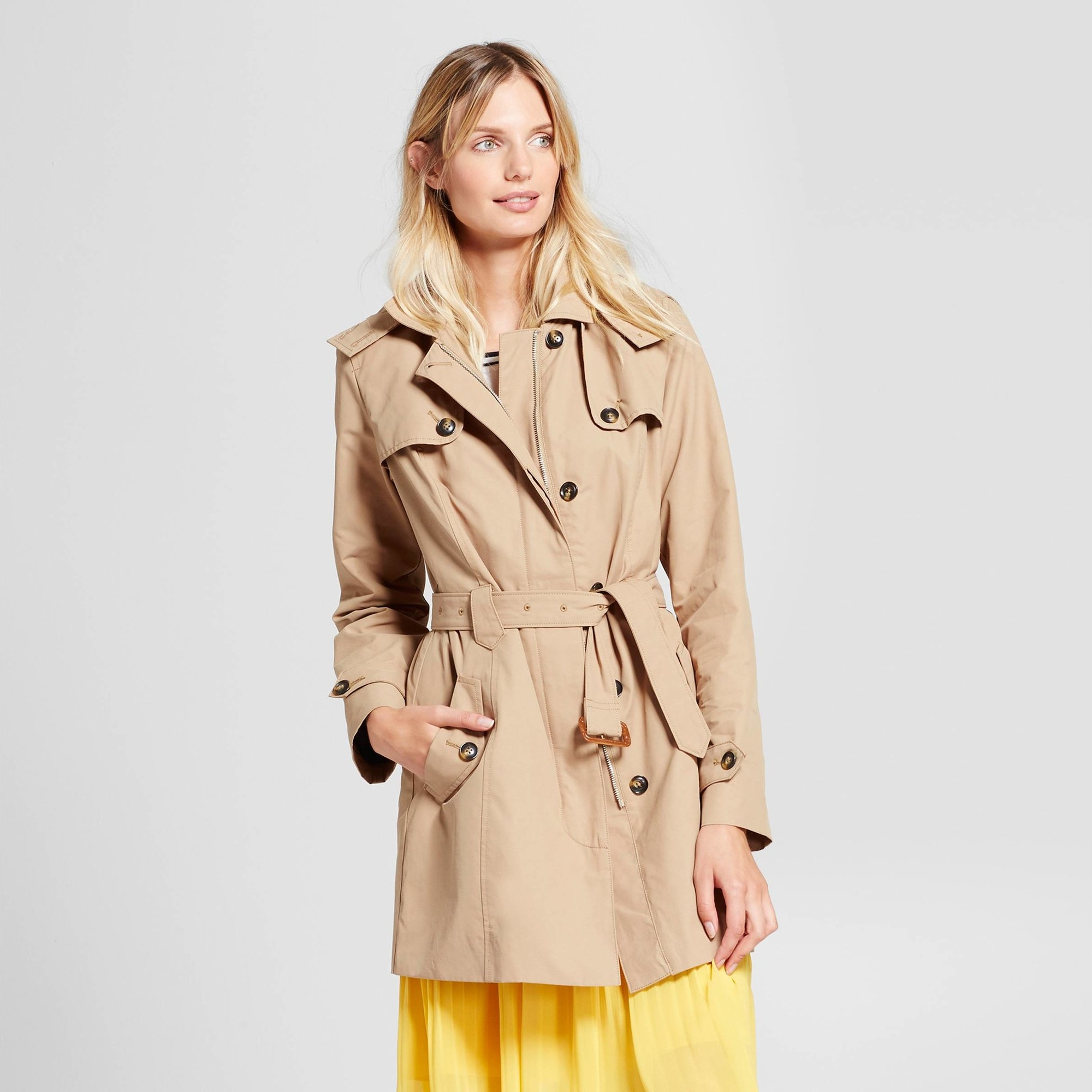 A New Day Hooded Trench Coat by Target