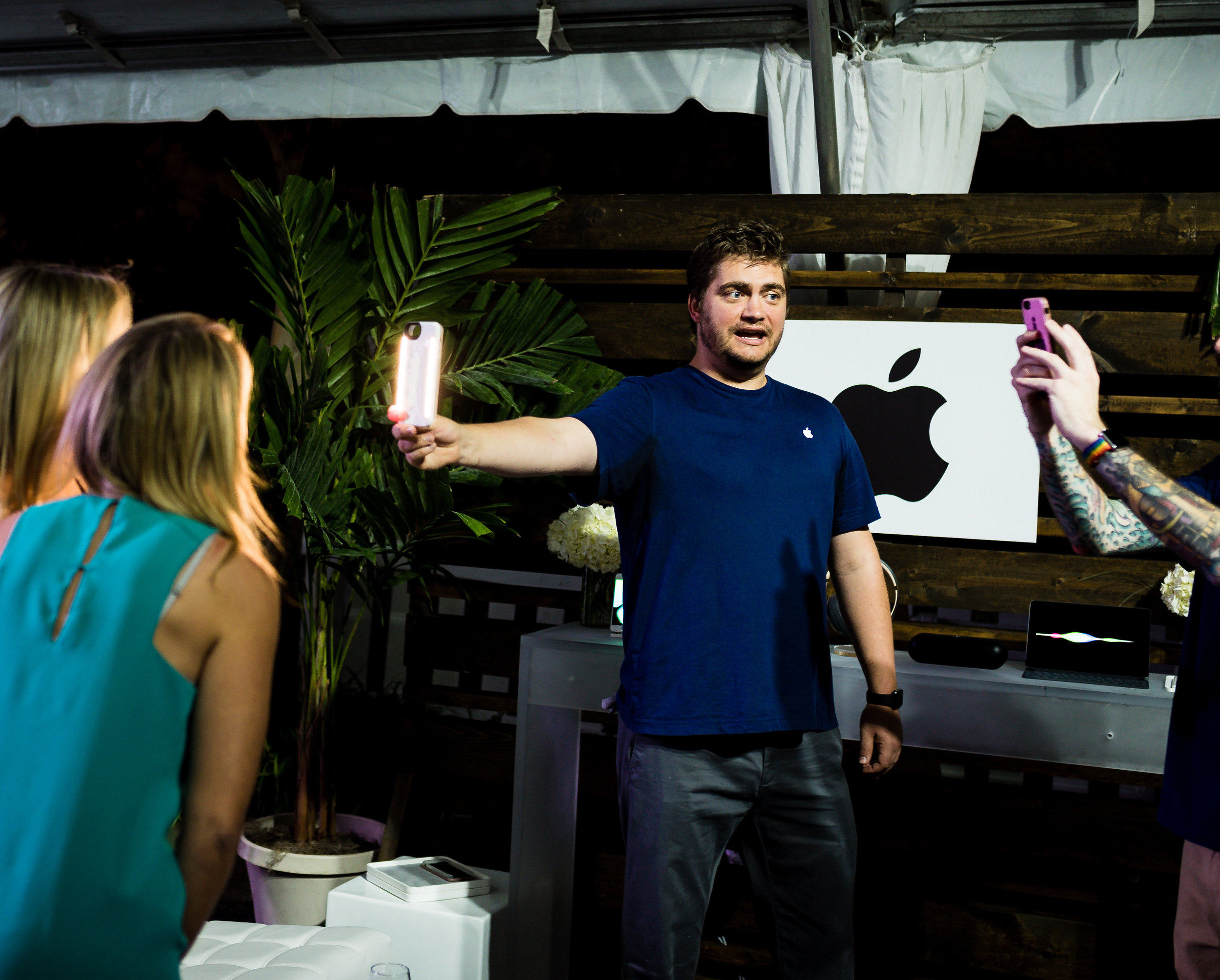 The super friendly and smart Apple team giving us the lowdown on Selfie lighting.   Photo by Viktoriya Chuprov Photography - Jacksonville, Florida (Website and contact information linked in photo)