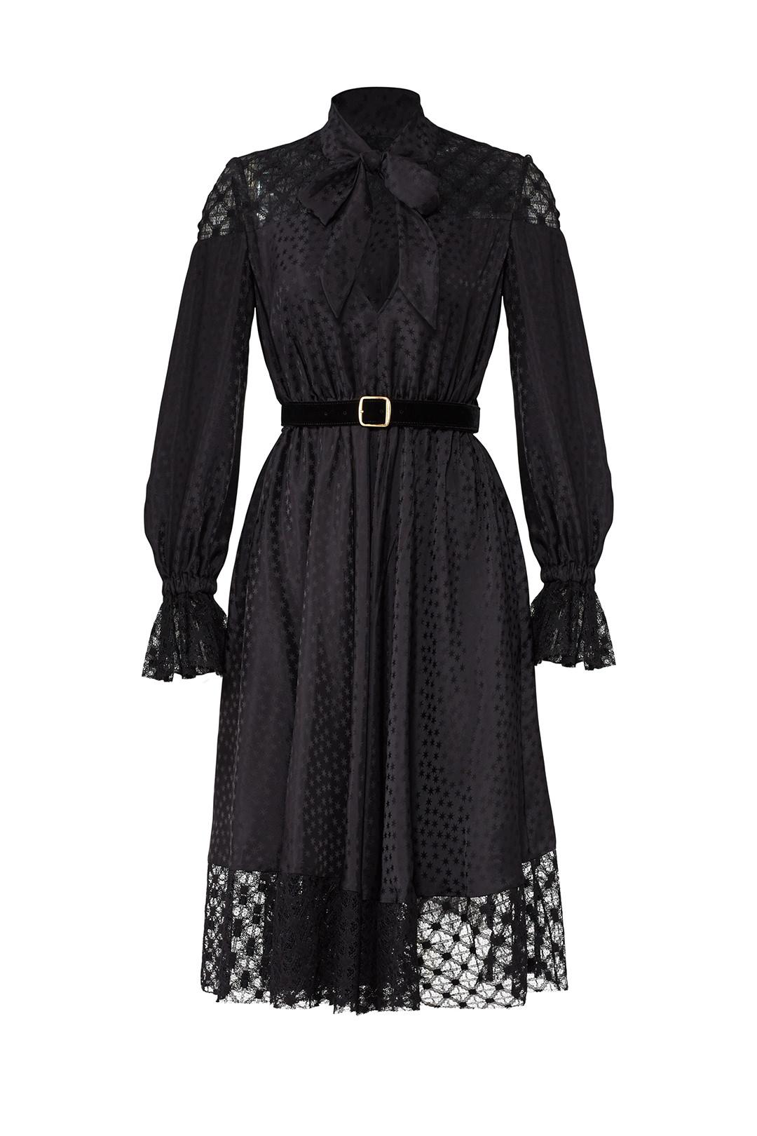 Black Lace Tie Philosophy di Lorenzo Serafini dress from Rent the Runway