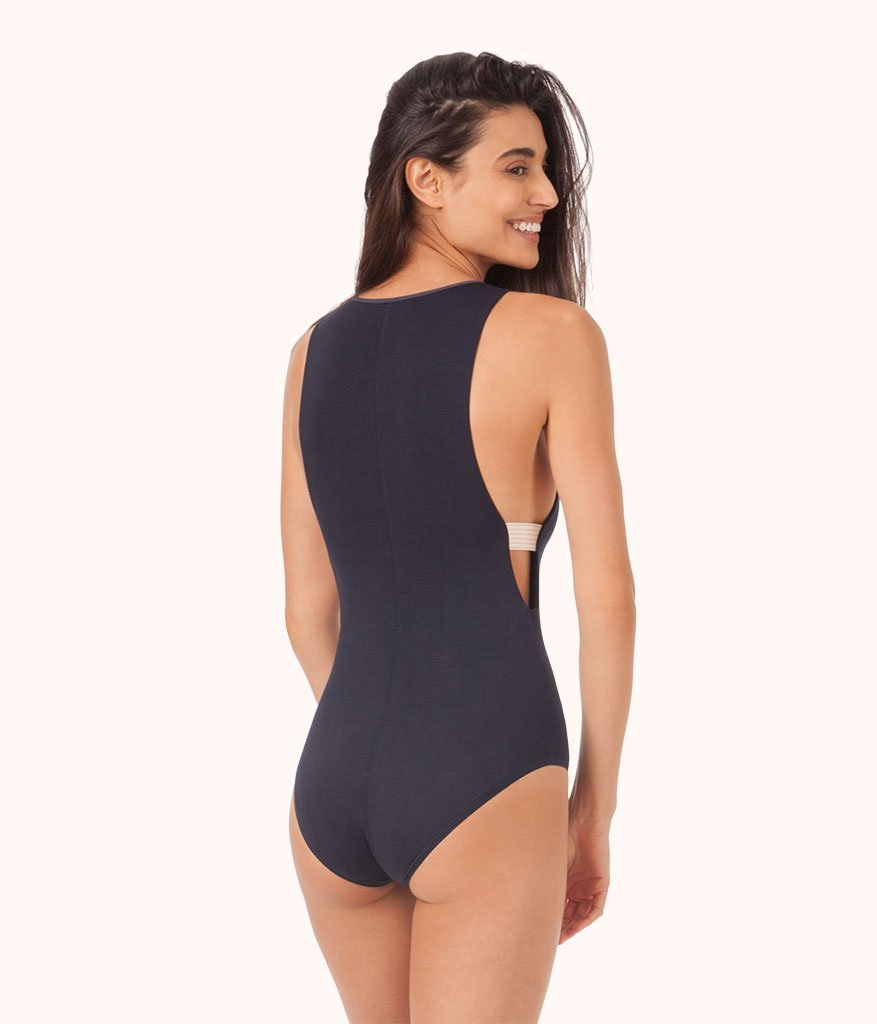 All Day High Neck Bodysuit      Leisuree lingerie featured by top US fashion blog, The Borrowed Babes