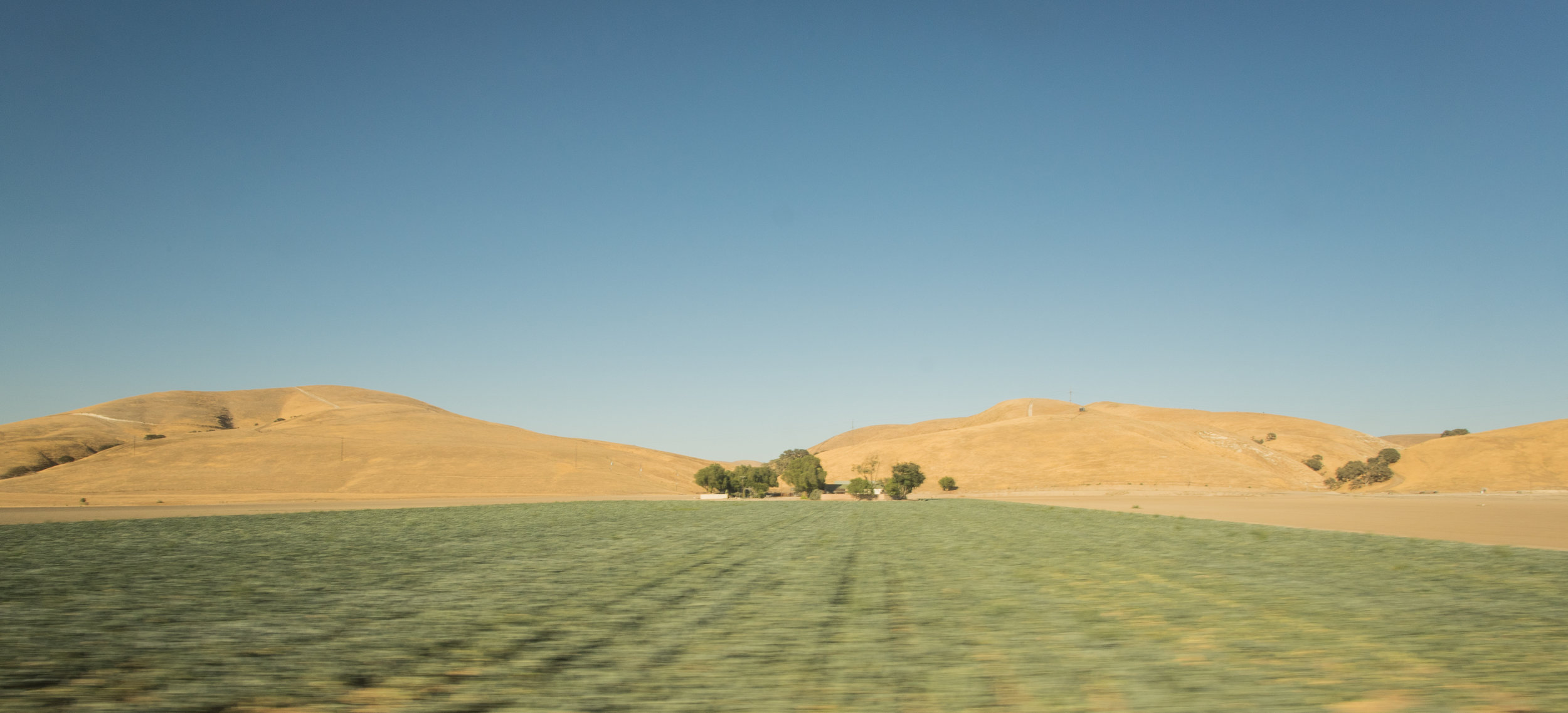 A series of photos have a recognizable motion blur across the bottom portion of the image, these were taken by mounting the camera to the inside of an observation car on a train ride from Los Angeles to New York via San Francisco.