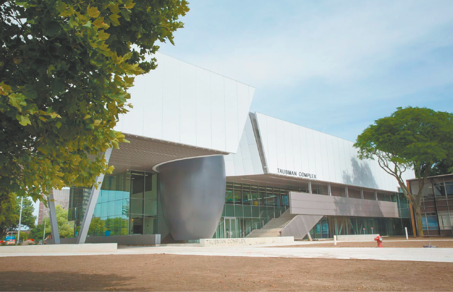 The new A. Alfred Taubman Engineering, Architecture and Life Sciences Complex