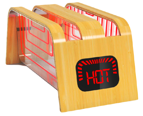 The Bamboo and glass toaster, created by industrial designer James Stumpf of StumpfStudio.com